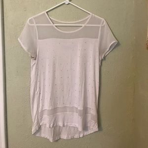 New York & Co White Top Small